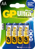 4 x Ultra Plus Alkaline Battery AA, Mignon [GP 15AUP]