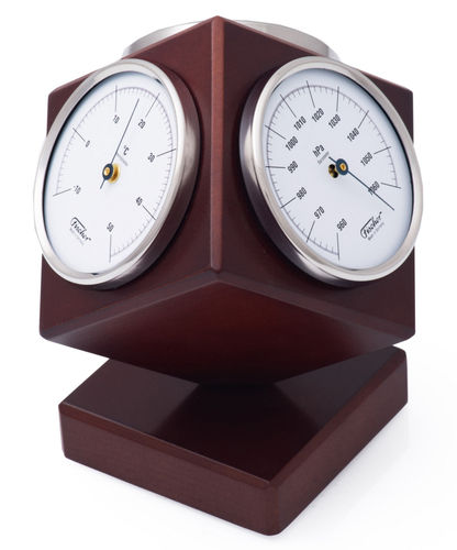 Weather Station Kubus, rotatable wooden housing [Fischer 4401-22]