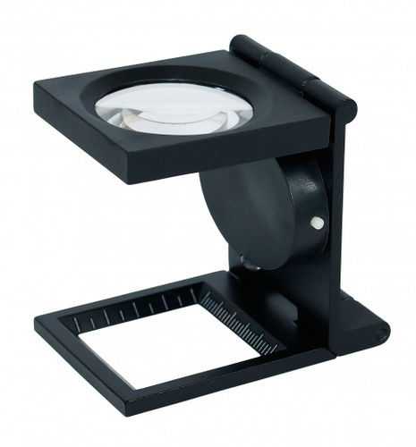 LED Linen tester with scale, 6x magnification [Lindner S30]